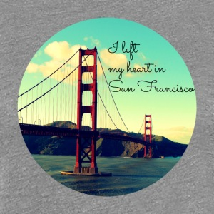 I left my heart in San Francisco - Frauen Premium T-Shirt