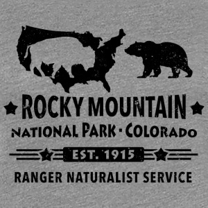 Bison Grizzly Rocky Mountain National Park Berg - Premium-T-shirt dam