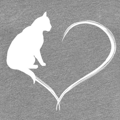 Coeur de chat blanc - T-shirt Premium Femme