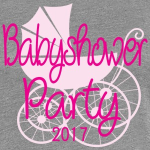 Baby Shower Party 2017 Rose - Dame premium T-shirt