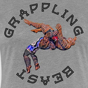 Grappling Beast (abe vs jaguar) - Dame premium T-shirt