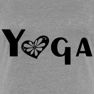 yoga heart - Vrouwen Premium T-shirt