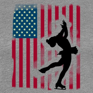 pirouette Figure Skating Ice Dance Team USA eisprinzes - Women's Premium T-Shirt