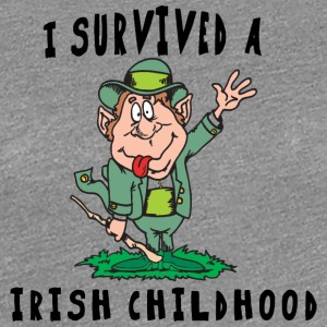 Irish I Survived A Irish Childhood - Women's Premium T-Shirt