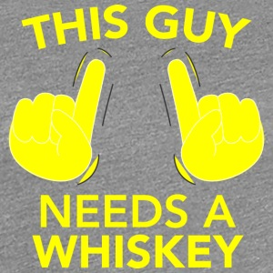 This GUY NEEDS A WHISKEY gelb - Frauen Premium T-Shirt