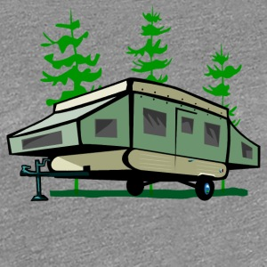 Camping Pop Up Trailer - Women's Premium T-Shirt