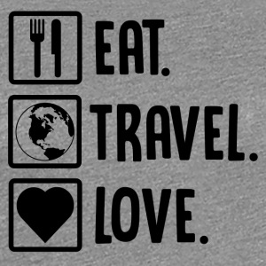 ++Eat, Travel, Love++ - Frauen Premium T-Shirt