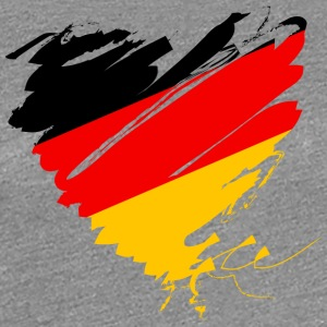Germany Germany Football Scorer Heart Heart - Women's Premium T-Shirt
