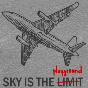 Pilot: Sky is the Limit or the Playground - Frauen Premium T-Shirt
