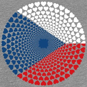 Czechia Czech Republic Česká Love HEART Mandala - Women's Premium T-Shirt