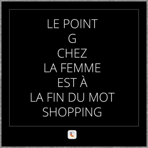 Le point G en mode shopping - T-shirt Premium Femme