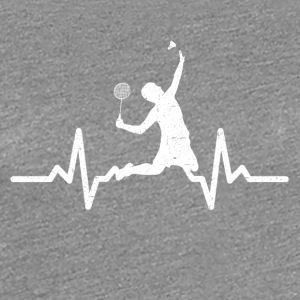 My heart beats for Badminton - Women's Premium T-Shirt