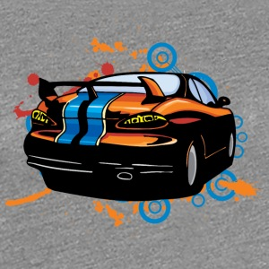 Sport car back - Women's Premium T-Shirt