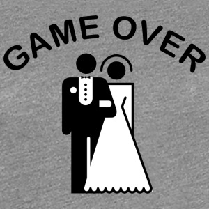 Game Over Just Married - Vrouwen Premium T-shirt