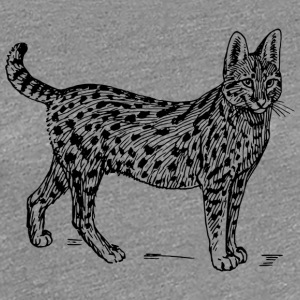 Wild cat black and withe - Women's Premium T-Shirt