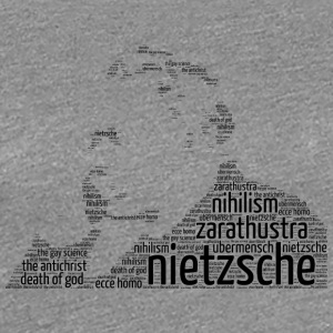 nietzsche stencil word cloud - Women's Premium T-Shirt