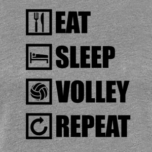 EAT SLEEP VOLLEYBALL REPEAT - Dame premium T-shirt