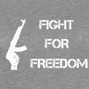 Fight for Freedom -WHITE - Women's Premium T-Shirt