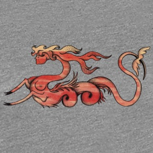Chimera woman and dragon - Women's Premium T-Shirt