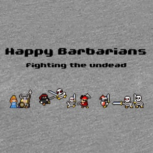 Happy Barbarians - Fighting the undead - Women's Premium T-Shirt