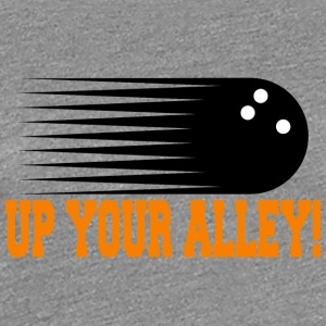 Funny Bowling op din alley! - Dame premium T-shirt