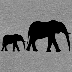 Small elephant family + baby elephant from Africa - Women's Premium T-Shirt