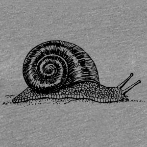 Black and withe snail - Frauen Premium T-Shirt