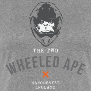 Two Wheeled Ape Biker T-shirt Black - Women's Premium T-Shirt