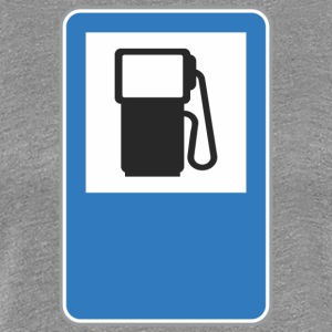 Road sign gas station - Women's Premium T-Shirt