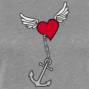 Heart with anchor - Women's Premium T-Shirt