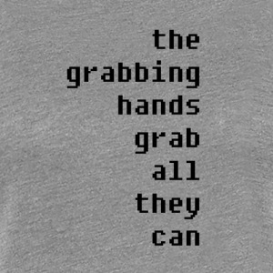 grabbing hands - Women's Premium T-Shirt