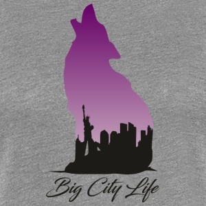 Wolf in New York Design - Big City Life - Vrouwen Premium T-shirt