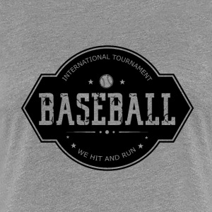 Baseball - Hit and Run - Premium T-skjorte for kvinner