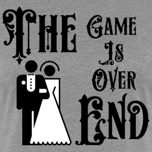 Just Married The Game is Over The End - Women's Premium T-Shirt