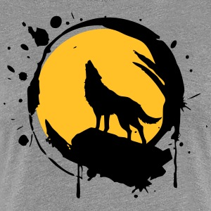 Wolf, Full Moon, power symbol, totem, - Women's Premium T-Shirt