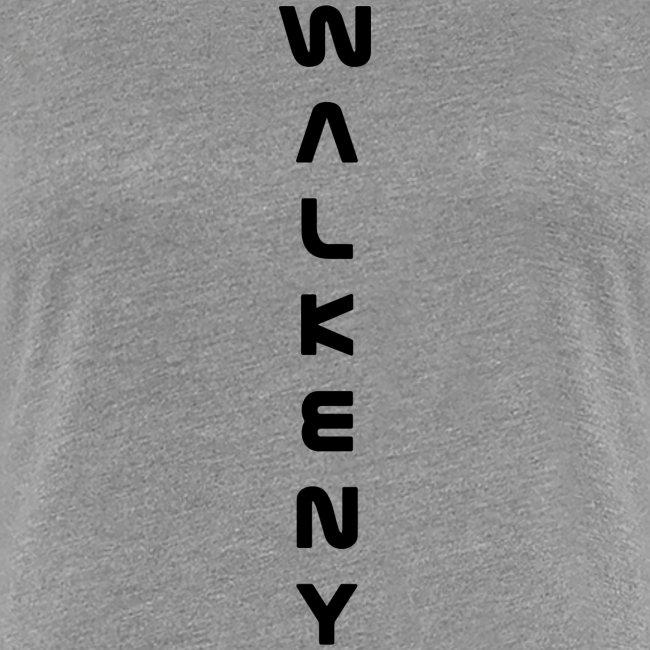 Walkeny Schriftzug vertikal in schwarz