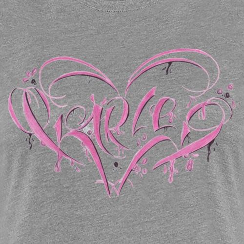 Kärlek pink - Frauen Premium T-Shirt