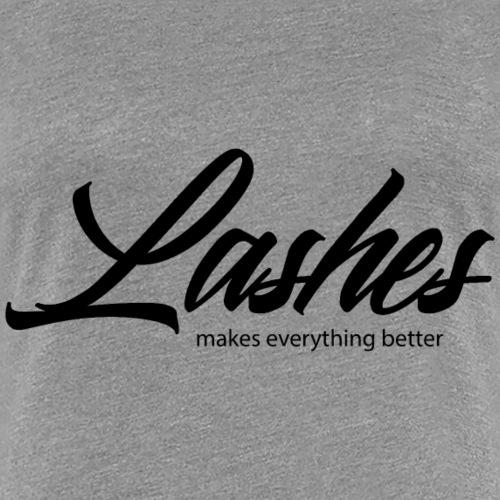 Mit Wimpern ist alles besser - Frauen Premium T-Shirt