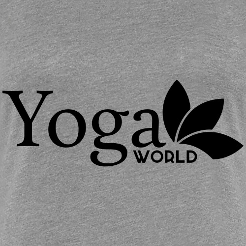 YogaWorld Logo Svart - Premium-T-shirt dam