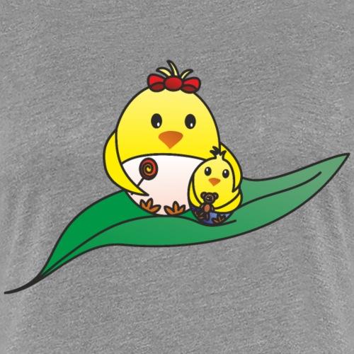 Kücken und Mama - Frauen Premium T-Shirt