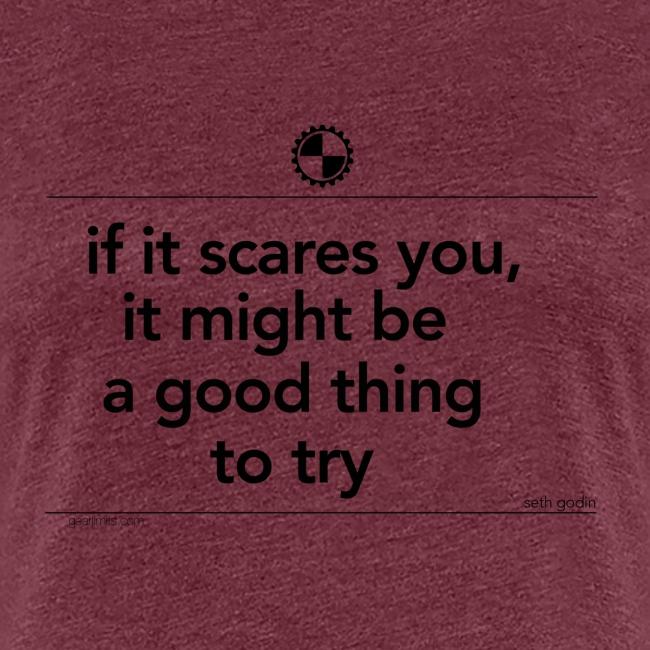 If it scares you Seth Godin black