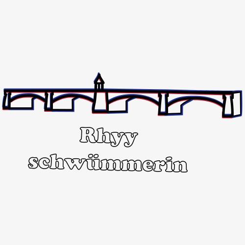 Rheinschwimmerin - Frauen Premium T-Shirt