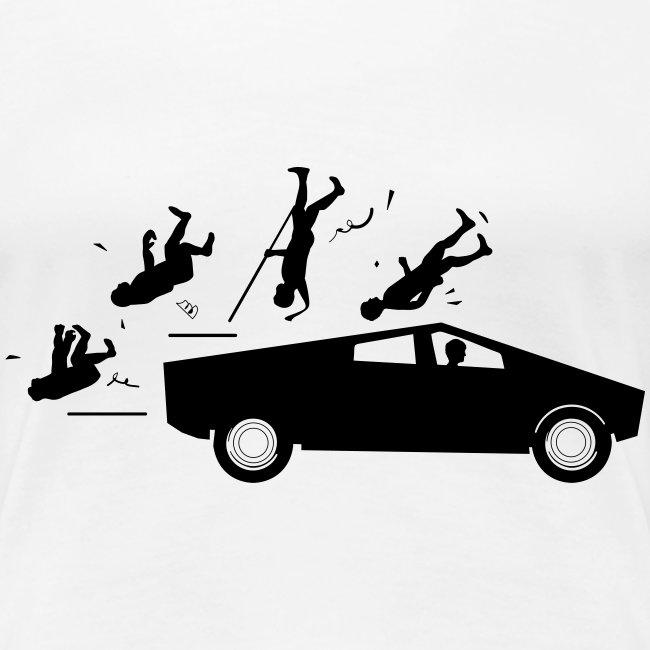 Evolution accident tesla Cybertruck par Elon Musk
