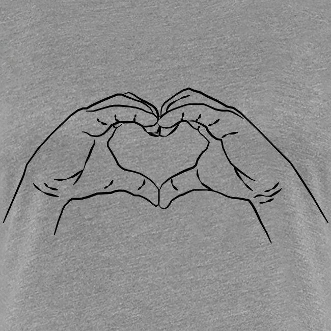 Herz Hand Geste