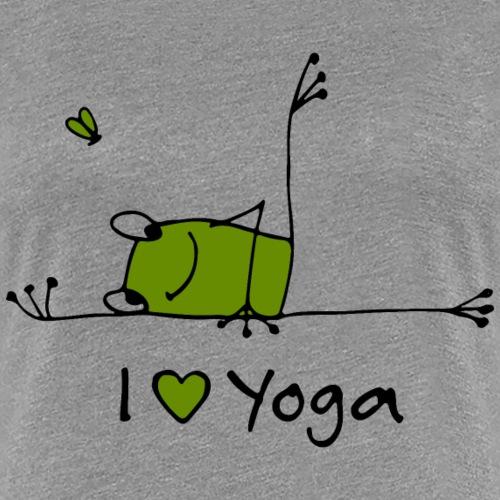 Frieda - I love Yoga - Frauen Premium T-Shirt