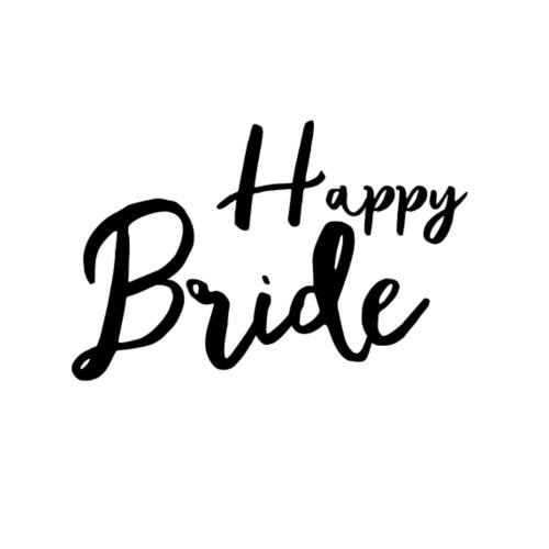Happy Bride - Tshirt JGA - Aquarell