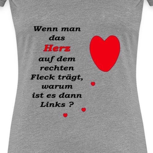 herz_rechts_obwohl_links_ - Frauen Premium T-Shirt