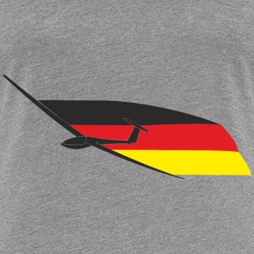 deutschlandflagge segelflugzeug Segelflieger - Frauen Premium T-Shirt