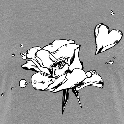 Rosenblattherz - Frauen Premium T-Shirt