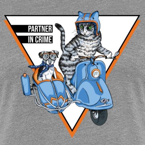 Partner in Crime - Cat & Dog - Frauen Premium T-Shirt
